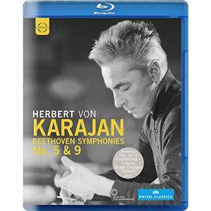 Beethoven:Symphonies 5 & 9 [Herbert von Karajan, Berliner Philharmoniker ] [EUROARTS: BLU RAY] [Blu-ray] [2015]