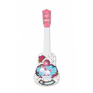 Lexibook Universal Despicable Me Agns & Fluffy My first guitare, 6 nylon strings, 53 cm, guide included, Pink / White, K200DES1
