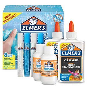 ELMER'S Elmers Glue Frosty Slime Kit, Clear School Glue, Glitter Glue Pens & Magical Liquid Activator Solution, 8 Count