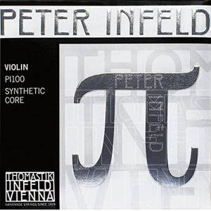 Thomastik Strings for Violin Synthetic Core Peter Infeld Set 4/4 E Tin-Plated, D Silver