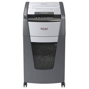 Rexel Optimum Auto Feed+ 225 Sheet Automatic Micro Cut Paper Shredder, P-5 Security, Small Office Use, 60 Litre Removable Bin, Castor Wheels, 2020225M