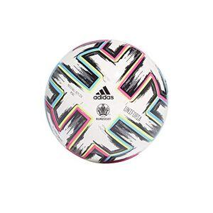 adidas Men's UNIFO MINI Soccer Ball, White/Black/Signal Green/Bright Cyan, 1