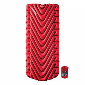Klymit Unisex's, Red, Insulated Static V Luxe Sleeping Pad, One Size