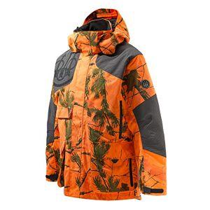 BERETTA Men's Insulated Static EVO Jacket, Realtree AP Camo Orange, 4XL