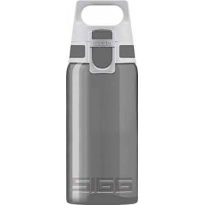 SIGG VIVA ONE Grey Children's Drinking Bottle (0.5 L), BPA-free Kids Water Bottle with Non-spill Lid, Lightweight Children's Bottle Made of Polypropylene