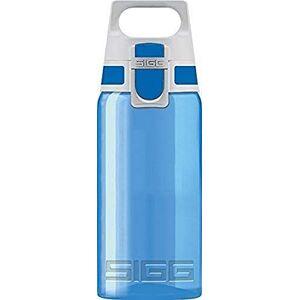 SIGG VIVA ONE Blue Children's Drinking Bottle (0.5 L), BPA-free Kids Water Bottle with Non-spill Lid, Lightweight Children's Bottle Made of Polypropylene