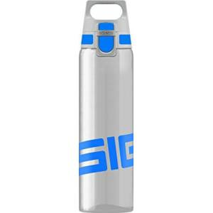 SIGG Total Clear ONE Blue Water Bottle (0.75 L), Pollutant- and BPA-Free Leak-Proof Bottle, Lightweight and Shatter-Proof Tritan Plastic Bottle