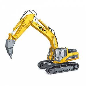 HuiNa CY1911 1/40 DIECAST Drill Excavator Static Model, Yellow