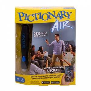 Mattel Pictionary Air GJG13 Air Drawing Board Game with Screen French Version