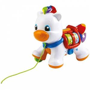 Clementoni 17229 Baby Pull Along Pony, Multicolored
