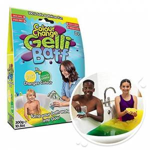 Zimpli Kids Colour Change Gelli Baff Yellow to Green from Zimpli Kids, Turns water into thick, colourful goo, Early Years Educational Children's Toy, Vegan Friendly & Cruelty Free Gift for Child