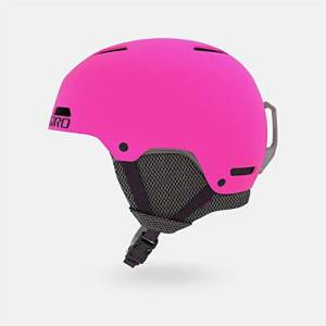 Giro Crue Youth Snow Helmet, Matte Bright Pink, Medium (55.5-59 cm)