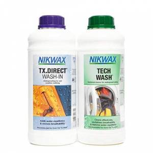 Nikwax Tech Wash and TX. Direct Wash-In Double Pack Transparent, 2 x 1L