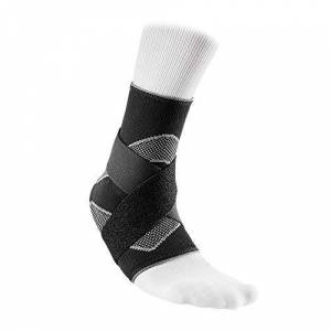 Mcdavid Men's Elastic Ankle Support Sleeve, Black, Small