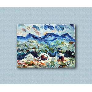 Arte Contemporary and contemporary decorative canvas frame, living room, abstract original paintings like the Impressionists, hand made with oil on canvas by Puliafico, gift box - TRE CASETTE 40x50cm