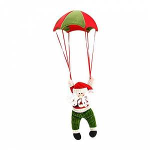 Hete-supply Christmas Home Ceiling Decorating Parachute Santa Claus Snowman, Christmas Tree Hanging Pendant Decoration, Fashion New Year Home Decor
