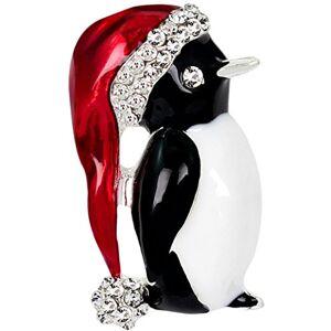 Aikesi Brooch Cute Fashion Crystal Alloy penguin Brooch Xmas Decoration Christmas Present Silver For Women