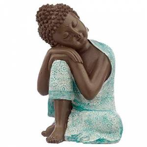 Puckator Decorative Turquoise & Brown Buddha Figurine - Contemplation