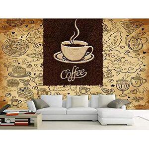 NEWWALLMURAL Wallpaper 3D Custom Mural Retro Casual Coffee Dessert for Living Room Or Bedroom 3D Wall Murals
