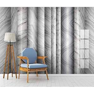 Chengyund 3D Wallpapers for Walls Gray White Textured Marbling Modern Wallpaper for Living Room Bedroom Office Tv Wall Murals Wallpaper Decoration 250cmx175cm