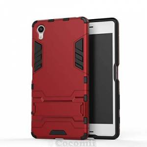 Cocomii Iron Man Armor Sony Xperia X Case NEW [Heavy Duty] Premium Tactical Grip Kickstand Shockproof Hard Bumper Shell [Military Defender] Full Body Dual Layer Rugged Cover for Sony Xperia X (I.Red)