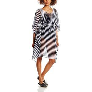 Mamalicious Maternity Striped Chiffon Kaftan Navy & White Medium Blue