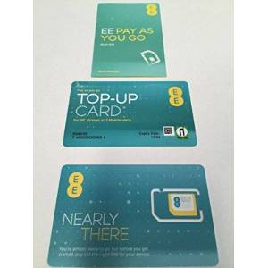 EE- EE Pay As You Go 4G NANO / MICRO & STANDARD Sim SEALED - For Iphone 4, 4S, 5, 5S, 5C, 6, 6S, 6+, Samsung Galaxy S-1, 2, 3, 4, 5, 6