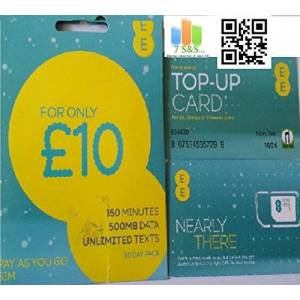 EE 10 Pounds Data Pack Pay As You Go SIM