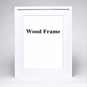 PMWLKJ Solid Simple Wooden Frame A4 A3 Black White Pink Color Picture Photo Frame With Mats For Wall Mounting A3 30x42cm White