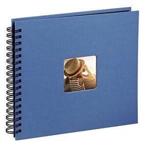 Hama 36 x 32 cm Fine Art Spiralbound Album 300 Photos 50 Black Pages, Azure Blue, 36 x 32cm