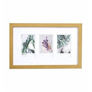 AmazonBasics Photo Frame for use with Instax - 3-Opening - 8 x 5 cm, Brass