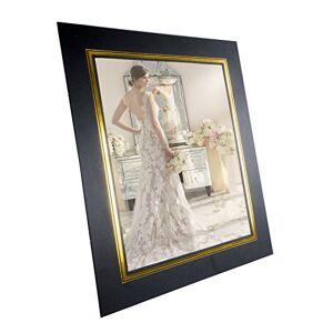 """Allcam JSP Photo Strut Mount/Photo Frame with Easel/Stands & Wall Mount 10""""x8"""" (25cm x 20cm) Black Gold- 8 Pack"""