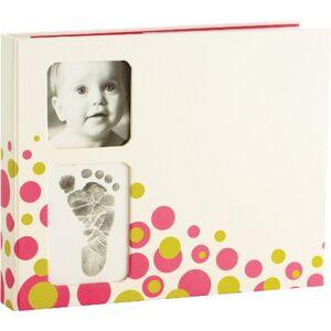 Pearhead Babyprints Memory Book (Pink Bubbles)