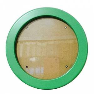 Jiyaru Round Photo Frame Wooden Wall Hanging Picture Holder Home Decor Green 10 inch