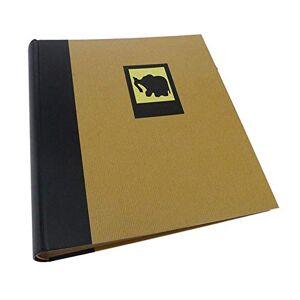 Dorr Green Earth Black Elephant Traditional Photo Album-100 Sides, Fabric, 25 x 5 x 25 cm