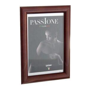 Dorr Guidi 12x8 Wooden Photo Frame - Glossy Dark Brown