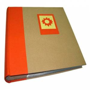 Dorr Green Earth 7x5 Slip Album-200 Photos, Vinyl, Orange Sun, 7 x 5-Inch