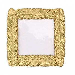 Toruiwa 1xToruiwa Photo Frame Small Resin Gold Feather Shaped Table Card Picture Holder for Home Wedding Party Decoration