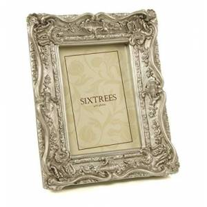 """Antique Silver Vintage Ornate Picture Photo Frame 6"""" X 8"""""""