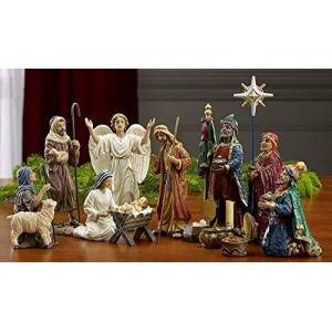 Three Kings Gifts 7 Inch Figures Real Life Nativity Including Chest Of Gold, Frankincense & Myrrh