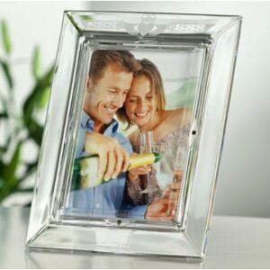 Belleek Galway Crystal Claddagh 5 x 7 Photo Frame