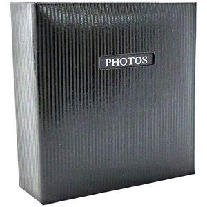 Dorr Elegance Traditional Photo Album-50 Sides Overall Size 11.5x12.5, Fabric, Black, 29 x 6 x 32 cm