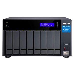 QNAP TVS-872XT-i5-16G 8-Bay NAS, Intel core i5-8400T 6-core 1.7 GHz Processor(max 3.3GHz), 16GB DDR4 RAM (max 32GB RAM)
