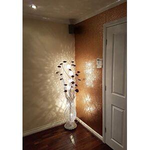 whitedustdesigns Chunky Grade 3 54cm Wide Glitter Glitter Wallpaper Fabric Backed - Silver Black Gold White All Colour Sold per Meter (Colour: Champagne Gold; Size: Sample)