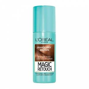 L'Oreal L'Oral Magic Retouch Instant Root Concealer Spray, Ideal for Touching Up Grey Root Regrowth, 75 ml, Colour: Mahogany Brown