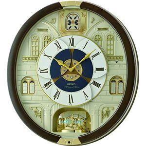Seiko QXM371B Motion Wall Clock with 18 Melodies, Brown, 50 x 47.5 x 14 cm