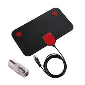 CamKpell TY13 HDTV Indoor TV Aerial Signal Receiver Amplifier Digital TV Aerial 50 Miles Range Mini DVB-T2 HDTV Aerial - Black