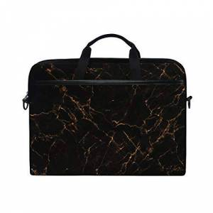 BEITUOLA 15-15.4 Inch Laptop Bags,Luxury Black Marble Texture Background Design,Various Patterns Multifunctional Laptop Case Portable Sleeve Briefcase Shoulder Bag