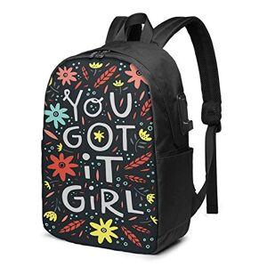 Laptop Backpack with USB Port Strong Gang You, Business Travel Bag, College School Computer Rucksack Bag for Men Women 17 Inch Laptop Notebook