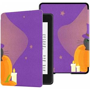 SUUJ All-new Kindle Paperwhite Water-safe Fabric Cover(10th Generation, 2018 Release), Jc This Cat Pumpkin On Tablet Case